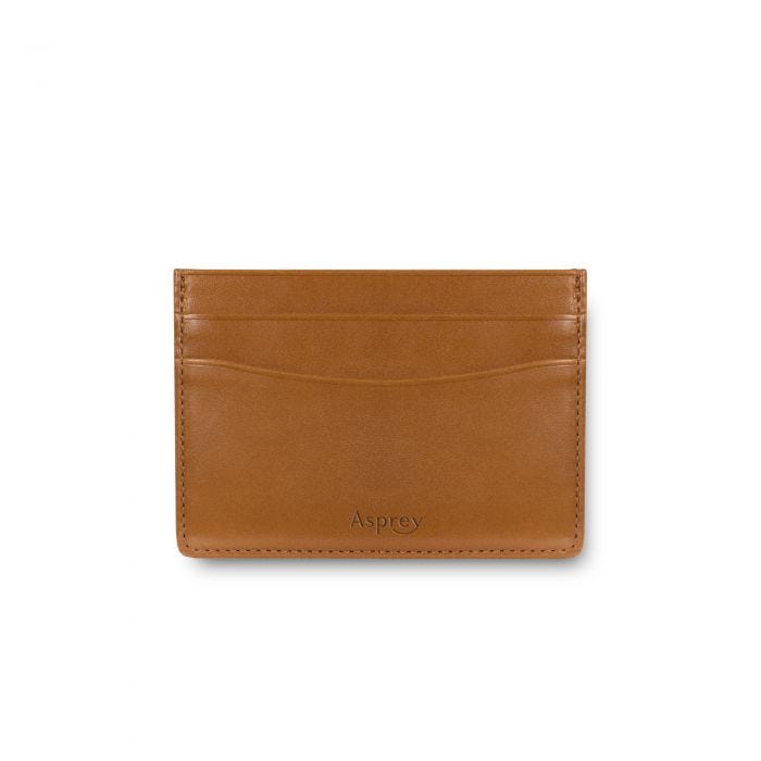 Hanover Flat Card Case in Saddle Leather