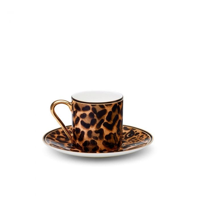 Leopard Espresso Cup and Saucer
