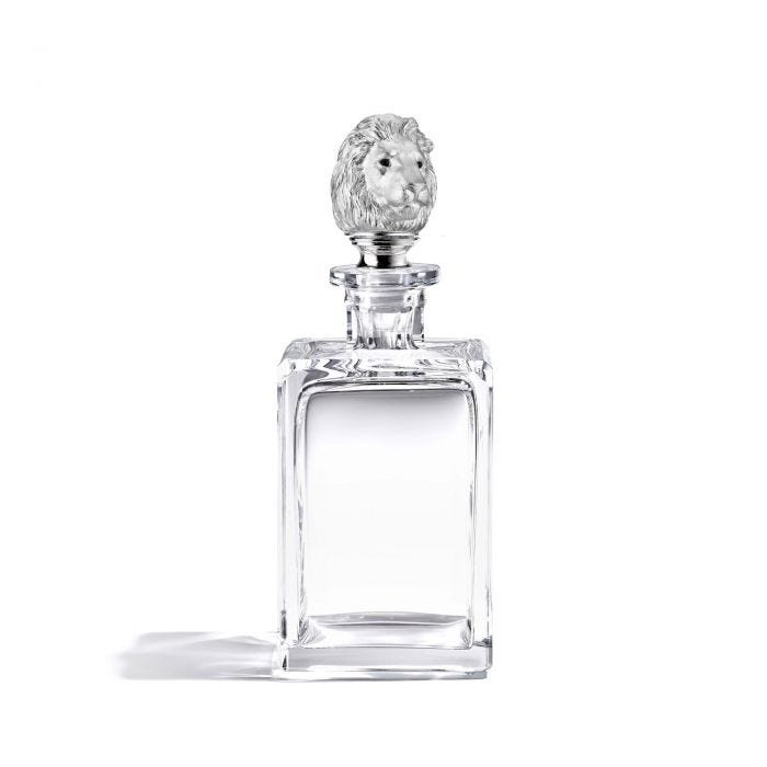 Lion Head Decanter, Clear