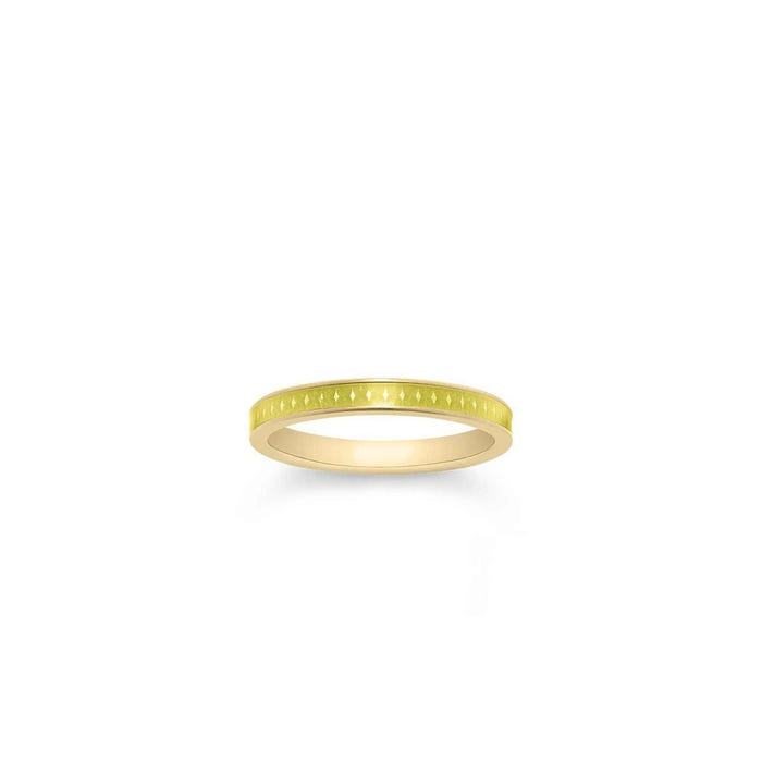 167 Enamel Ring in Yellow Gold 3mm
