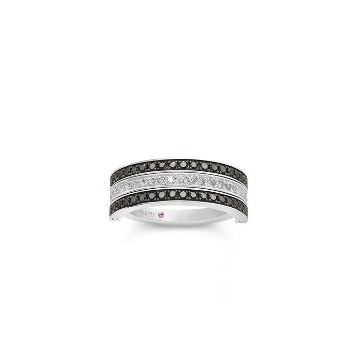 Flip Ring in Black & Diamond