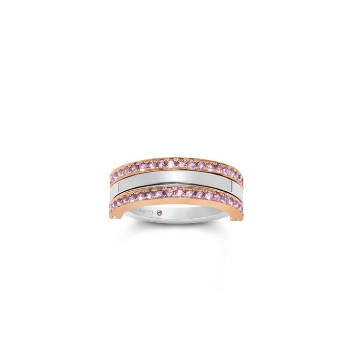 Flip Ring in Pink Sapphire & 18ct White Gold