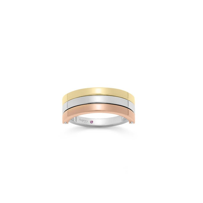 Flip Ring in 18ct Rose, White & Yellow gold