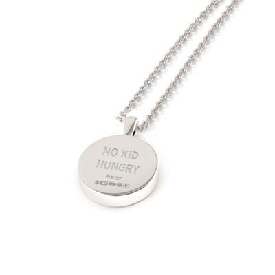 No Kid Hungry Charity 167 Button Pendant, Sterling Silver