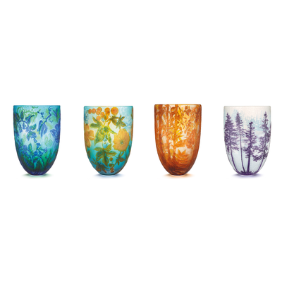 Four Seasons Vase, North America: Winter