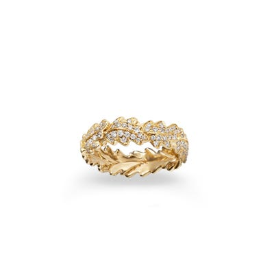 Oak Leaf Woodland Ring 18ct Yellow Gold