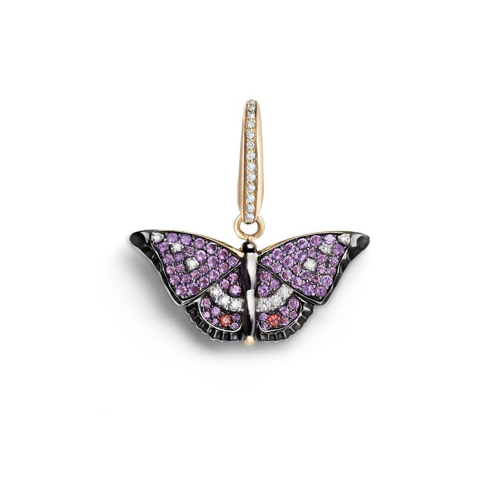 Woodland Butterfly Charm, Pavé Diamonds