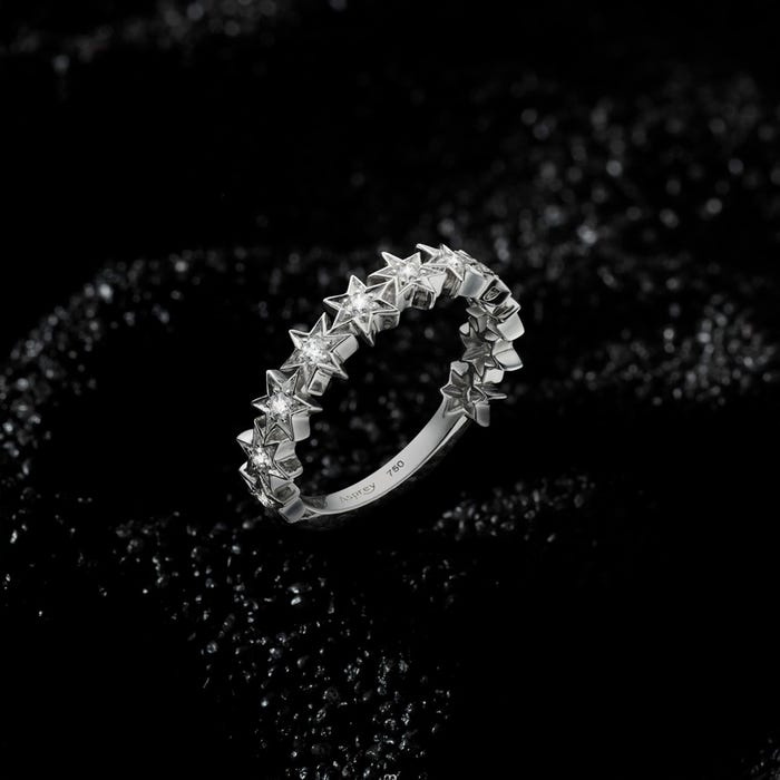 Stargazer Ring, White Gold
