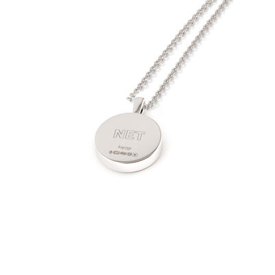 National Emergencies Trust Charity 167 Button Pendant, Sterling Silver