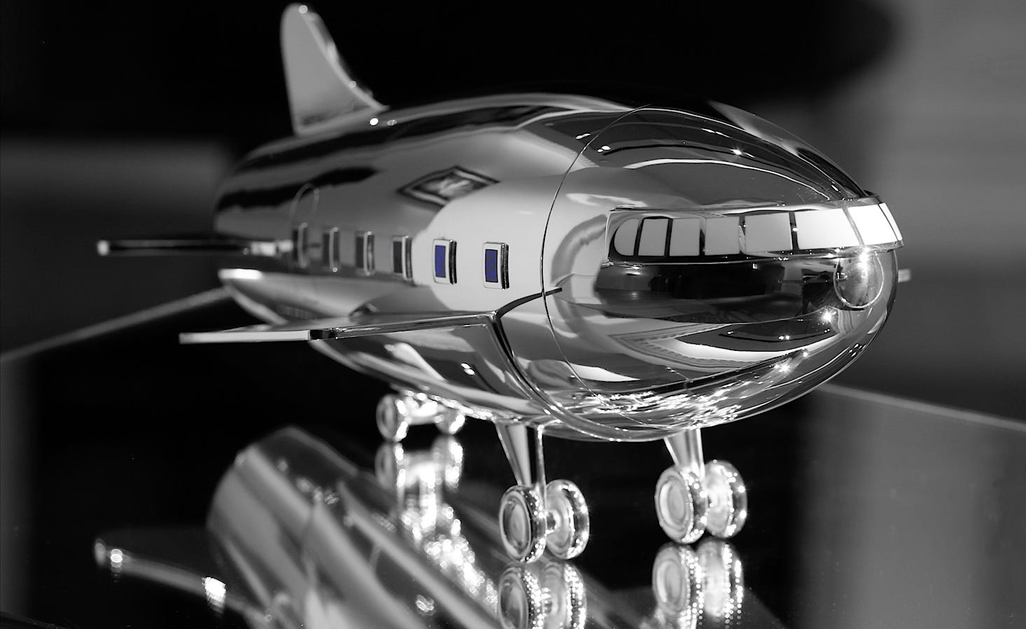 The Asprey Aeroplane cocktail shaker in its finished form